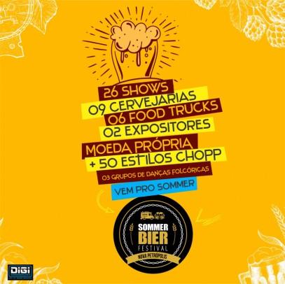 Foto de capa da notícia: Sommer Bier Festival ocorre de 21 de fevereiro a 1º de março em  Nova Petrópolis