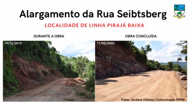 Foto de capa da notícia: Administração Municipal conclui obra de alargamento na Rua Seibtsberg