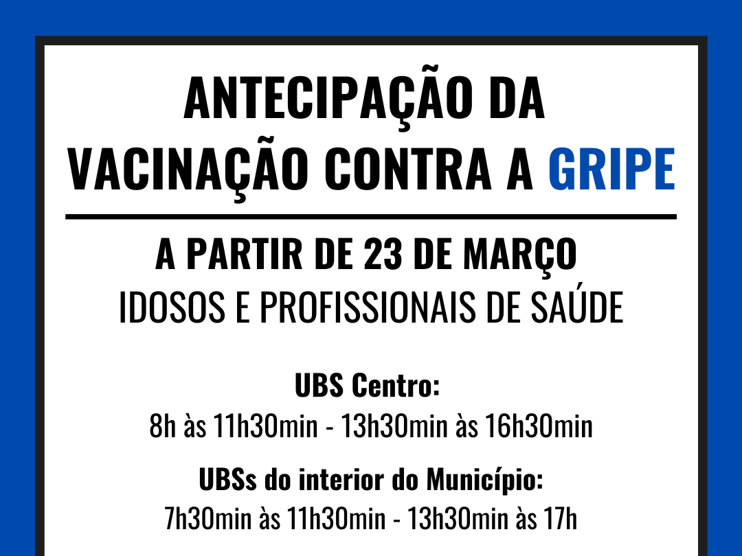 Foto de capa da notícia: Nova Petrópolis antecipa campanha de vacinação contra a gripe