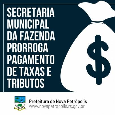 Foto de capa da notícia: Administração Municipal prorroga pagamento de tributos