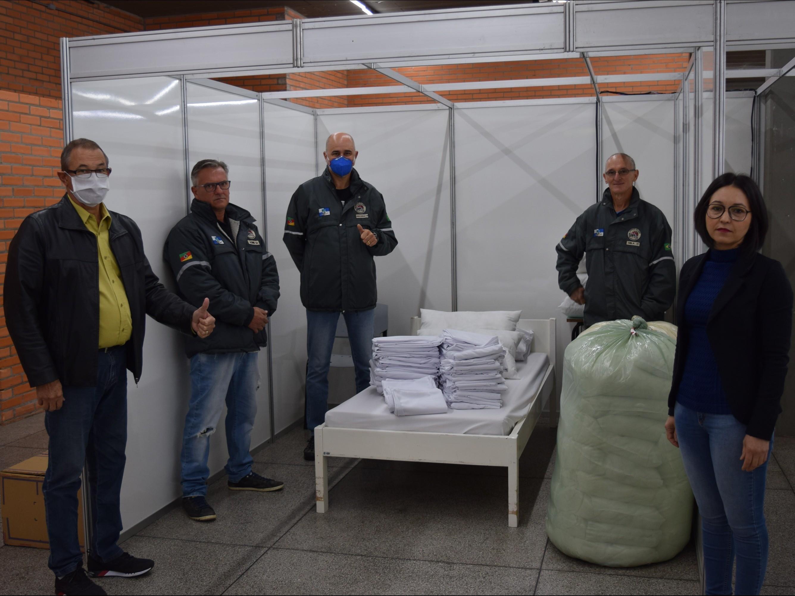 Foto de capa da notícia: Ambulatório de Campanha recebe mais de 100 peças para leitos