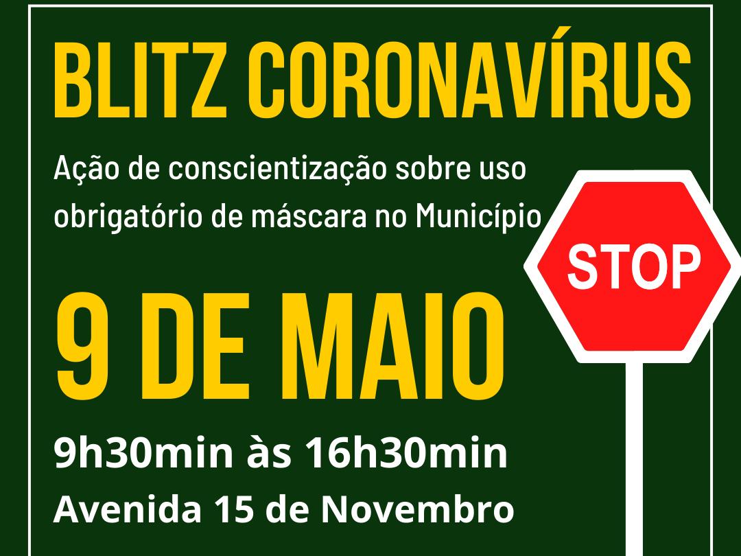 """Foto de capa da notícia: Nova Petrópolis promove 2ª ação da """"Blitz Coronavírus"""" dia 9 de maio"""