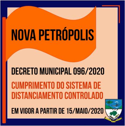 Foto de capa da notícia: Nova Petrópolis publica Decreto em obediência ao Modelo de Distanciamento Controlado do RS