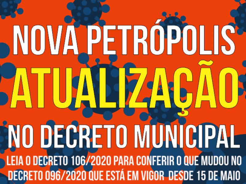 Foto de capa da notícia: Nova Petrópolis publica alteração ao Decreto Municipal 096/2020