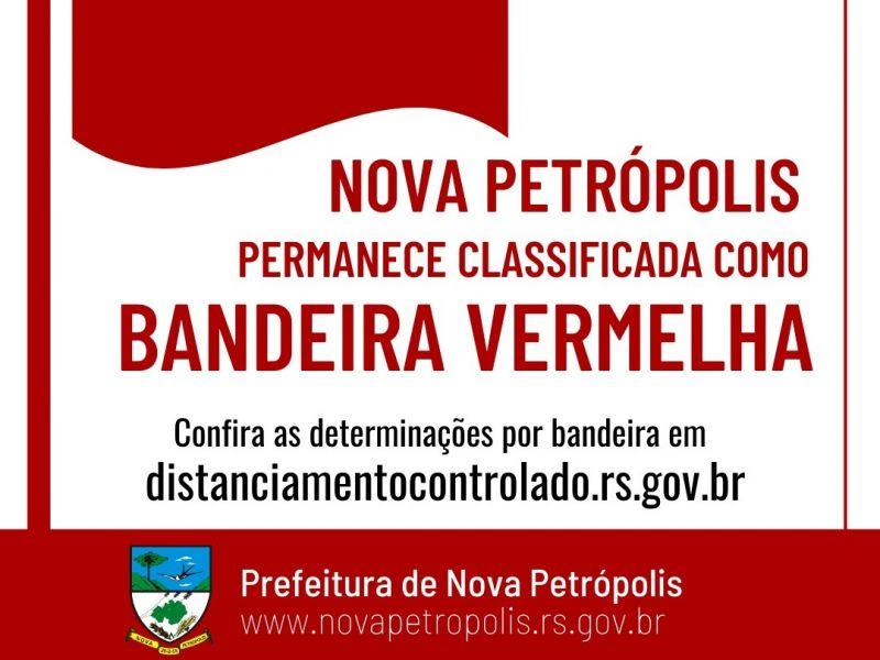 Foto de capa da notícia: Governo do RS confirma manutenção da Bandeira Vermelha para Nova Petrópolis