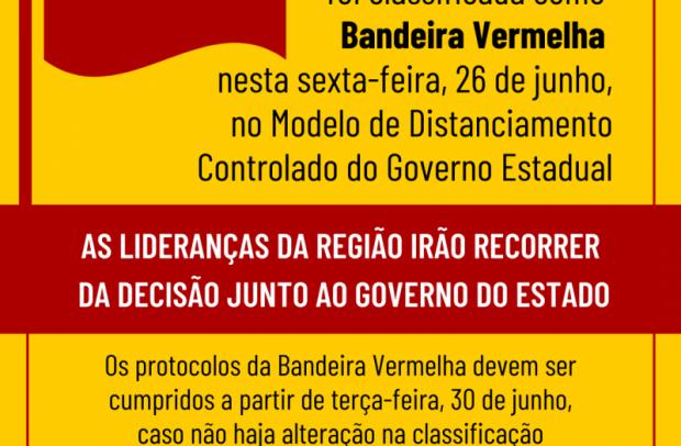 Foto de capa da notícia: BANDEIRA VERMELHA: NOVA PETRÓPOLIS VAI RECORRER 🚩