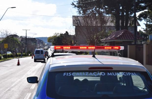 Foto de capa da notícia: Nova Petrópolis realizou ações de fiscalização no combate à COVID-19