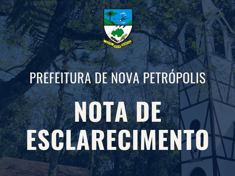 Foto de capa da notícia: NOTA DE ESCLARECIMENTO