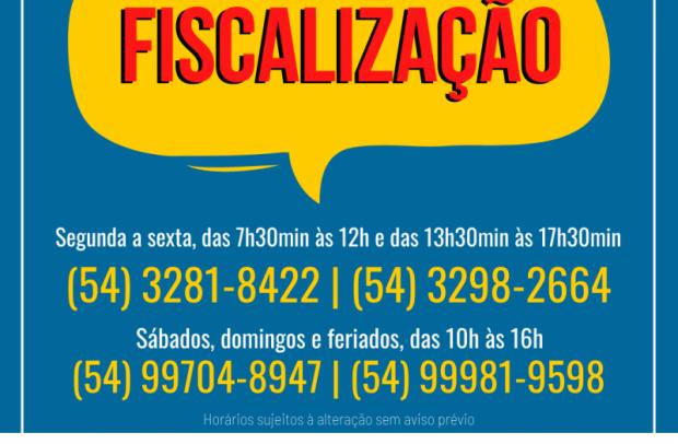 Foto de capa da notícia: Fiscalização Municipal terá plantão das 10h às 16h nos fins de semana em Nova Petrópolis