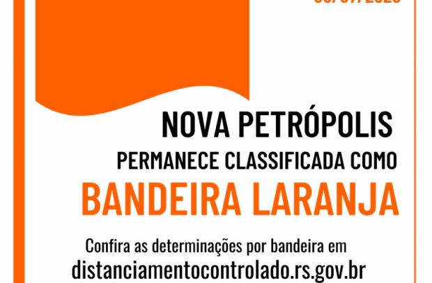 Foto de capa da notícia: Nova Petrópolis permanece na Bandeira Laranja