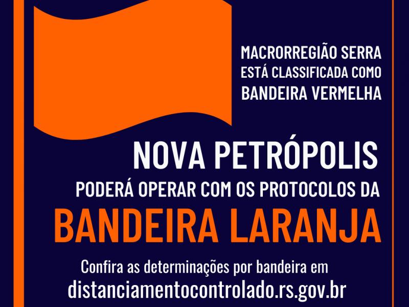 Foto de capa da notícia: Nova Petrópolis opera na Bandeira Laranja até 27 de julho