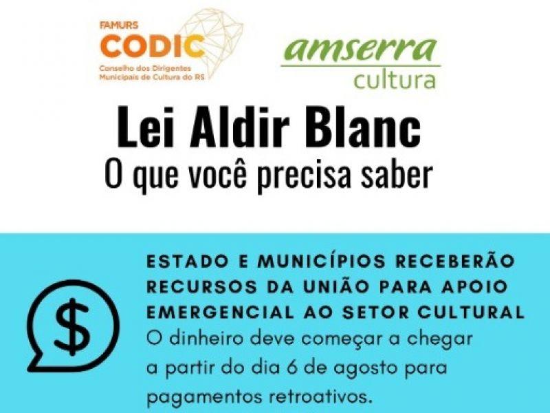Foto de capa da notícia: Departamento Municipal de Cultura inicia cadastros para beneficiários da Lei Aldir Blanc