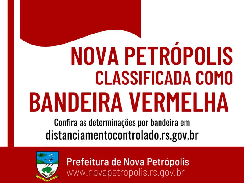 Foto de capa da notícia: Nova Petrópolis opera na Bandeira Vermelha até 3 de agosto