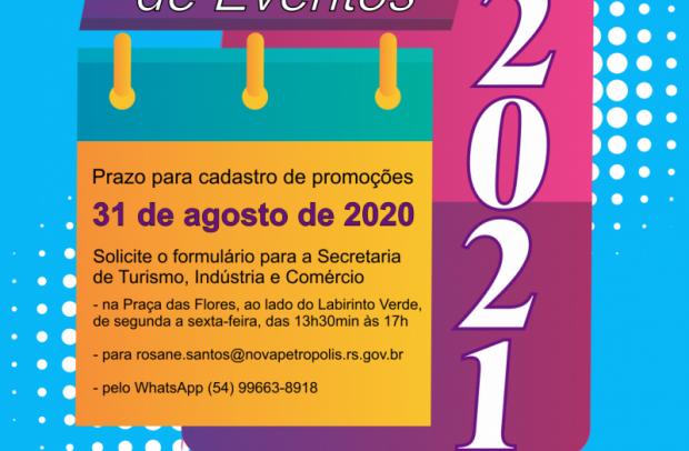 Foto de capa da notícia: Calendário de Eventos 2021: prazo para cadastrar promoções encerra dia 31 de agosto