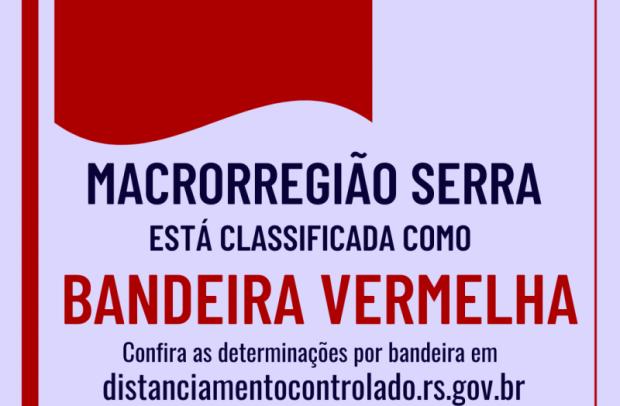 Foto de capa da notícia: Macrorregião Serra permanece em Bandeira Vermelha