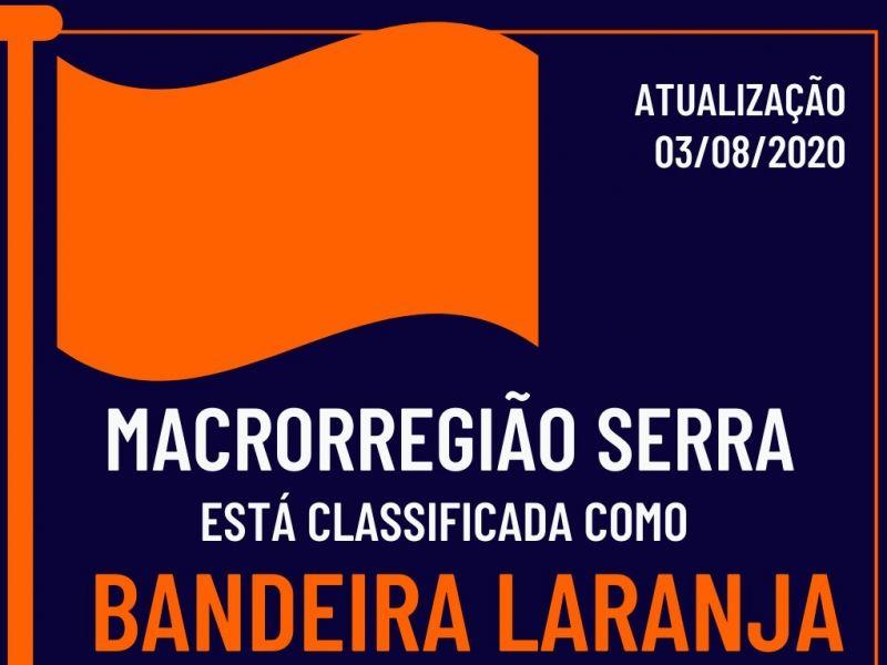Foto de capa da notícia: Macrorregião Serra retorna para a Bandeira Laranja