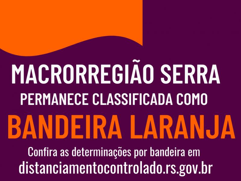 Foto de capa da notícia: Macrorregião Serra permanece em Bandeira Laranja
