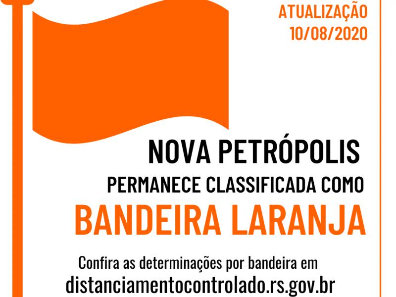 Foto de capa da notícia: Nova Petrópolis opera em Bandeira Laranja até 17 de agosto