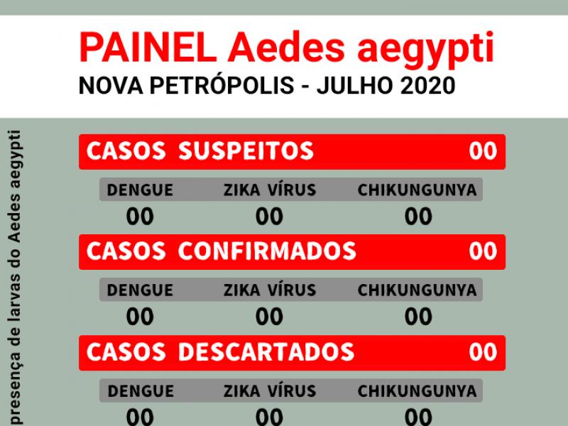 Foto de capa da notícia: Nova Petrópolis divulga painel Aedes aegypti até julho de 2020