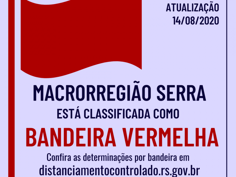 Foto de capa da notícia: Macrorregião Serra retorna à Bandeira Vermelha