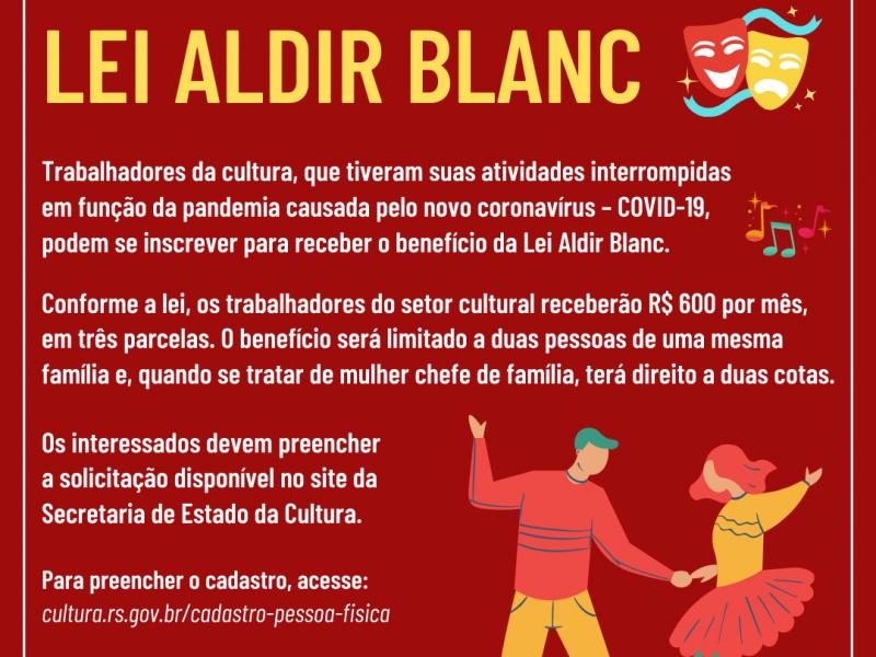 Foto de capa da notícia: Trabalhadores da Cultura podem se cadastrar junto ao Estado para receber benefício da Lei Aldir Blanc