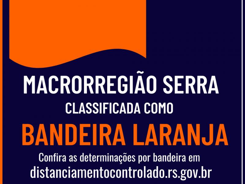 Foto de capa da notícia: 🛑🔸 Macrorregião Serra permanece na Bandeira Laranja 🔸🛑