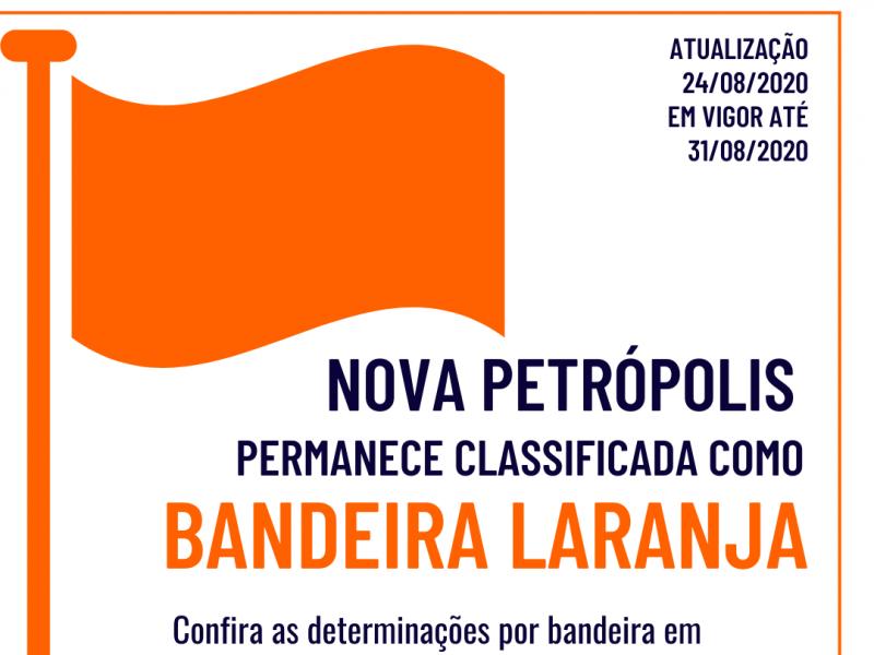 Foto de capa da notícia: Macrorregião Serra opera na Bandeira Laranja até 31 de agosto
