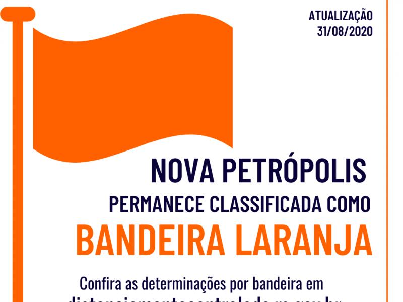 Foto de capa da notícia: Macrorregião Serra opera na Bandeira Laranja até 7 de setembro