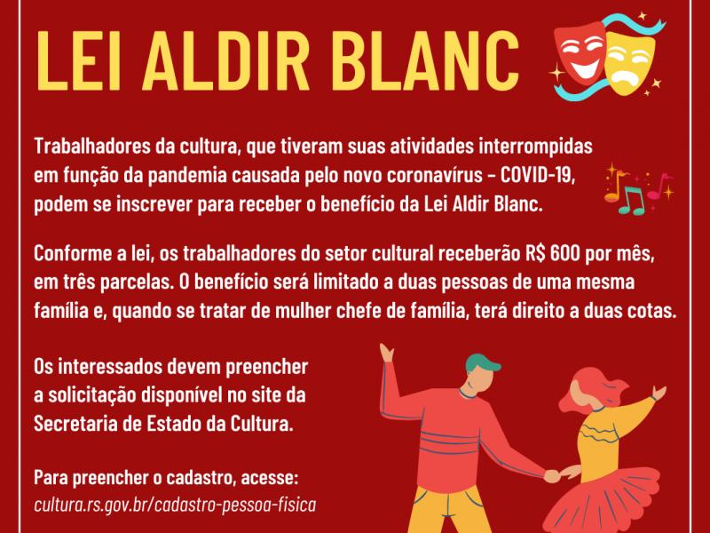 Foto de capa da notícia: Trabalhadores da Cultura devem se cadastrar junto ao Estado para receber benefício da Lei Aldir Blanc