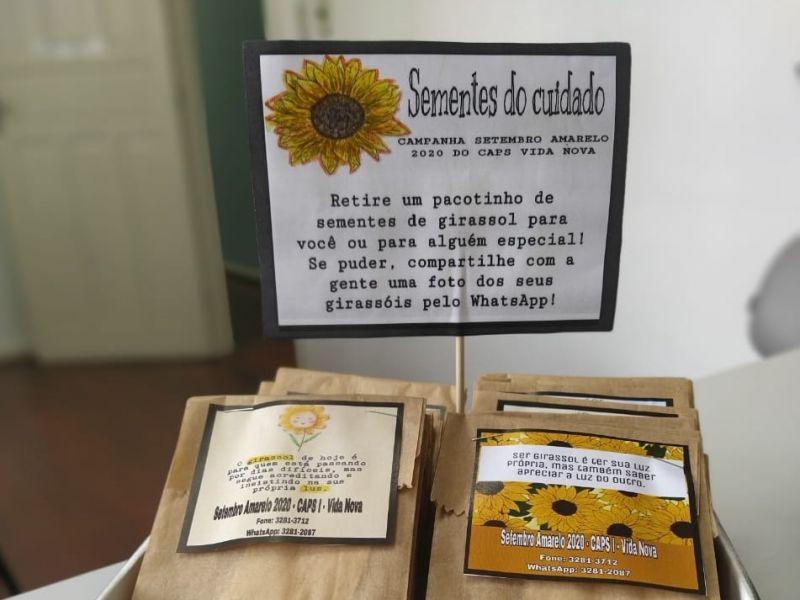 Foto de capa da notícia: CAPS Vida Nova promove ações alusivas ao Setembro Amarelo