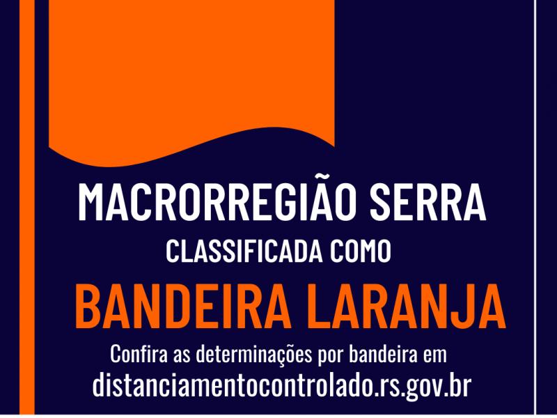 Foto de capa da notícia: Macrorregião Serra opera na Bandeira Laranja até 21 de setembro