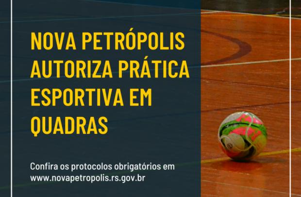 Foto de capa da notícia: Nova Petrópolis regulamenta a prática de esportes coletivos em quadras