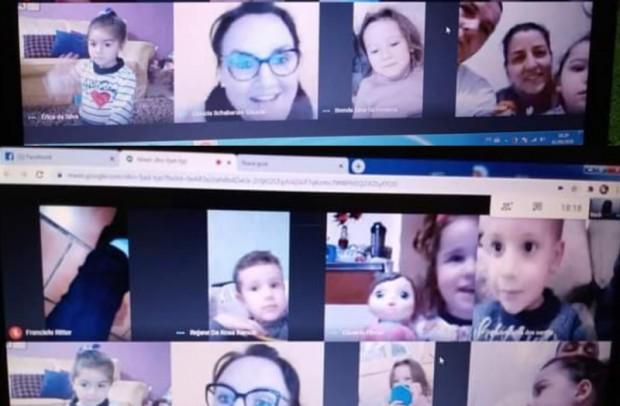 Foto de capa da notícia: Escola Municipal de Educação Infantil Professora Ignez reforça o vínculo com os alunos virtualmente