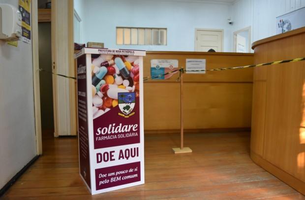 Foto de capa da notícia: Nova Petrópolis instala caixas coletoras do Programa Farmácia Solidária