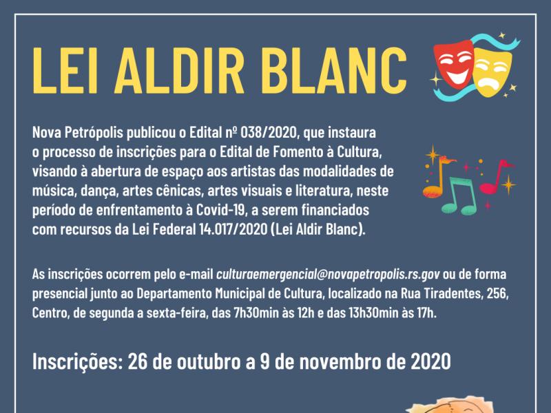 Foto de capa da notícia: Nova Petrópolis publica Edital para credenciamento de artistas para subsídio da Lei Aldir Blanc