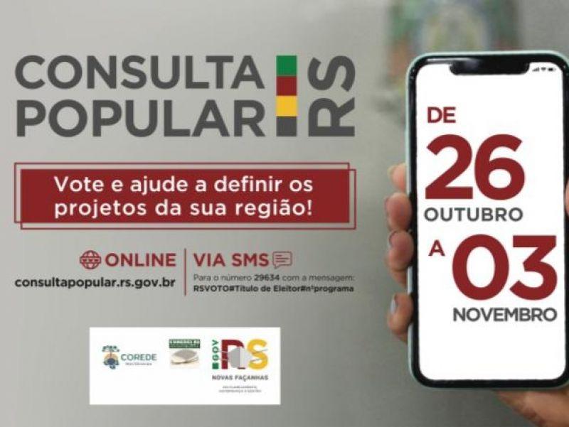 Foto de capa da notícia: Consulta Popular 2020 ocorre de 26 de outubro a 3 de novembro