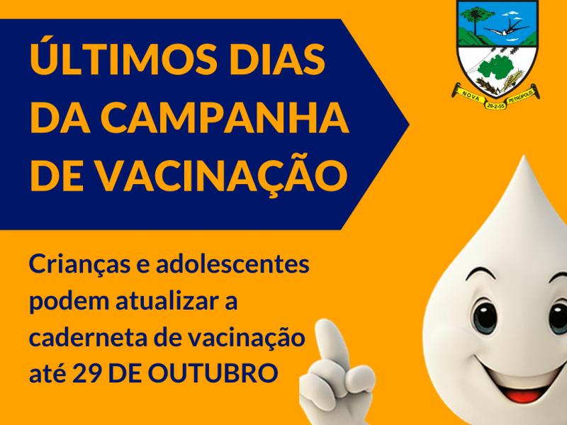 Foto de capa da notícia: Últimos dias para atualização da caderneta de vacinação de crianças e adolescentes