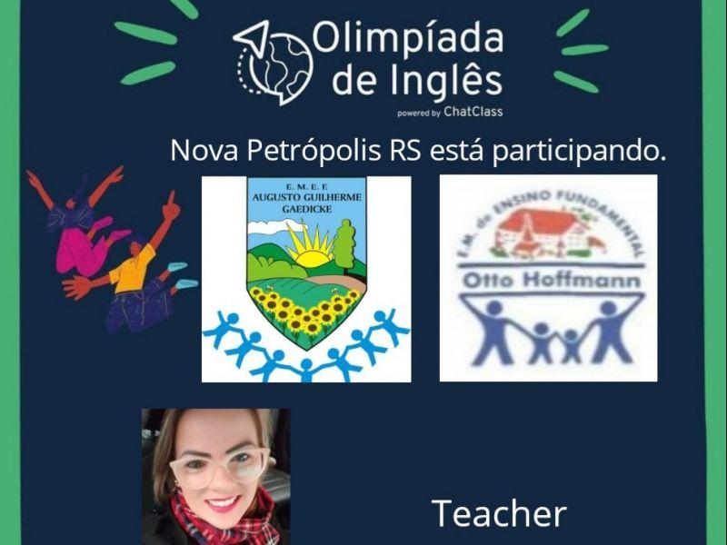 Foto de capa da notícia: Escolas Augusto Gaedicke e Otto Hoffmann participam de Olimpíada de Inglês durante a pandemia