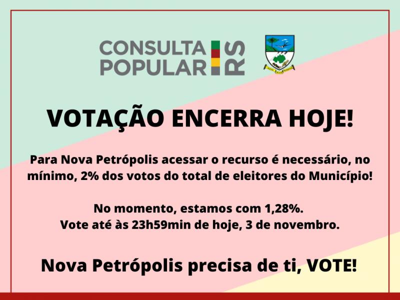 Foto de capa da notícia: VOTE NA CONSULTA POPULAR 2020
