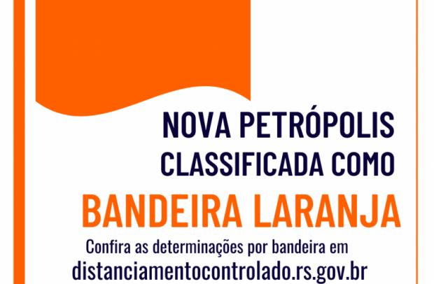Foto de capa da notícia: Macrorregião Serra retorna à Bandeira Laranja no mapa definitivo do RS