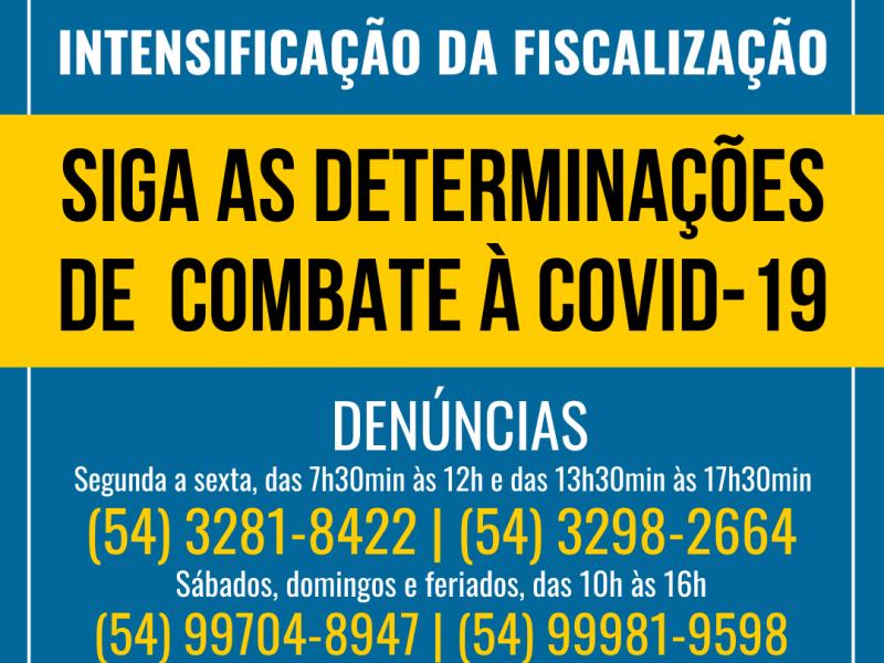 Foto de capa da notícia: Nova Petrópolis amplia ações de fiscalização e orientação contra a COVID-19