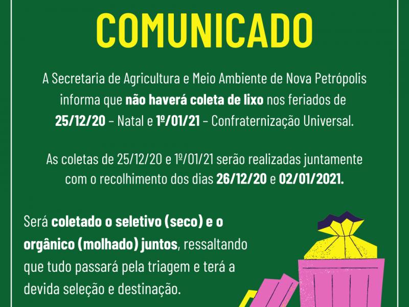 Foto de capa da notícia: ♻️ ATENÇÃO COMUNIDADE DE NOVA PETRÓPOLIS ♻️