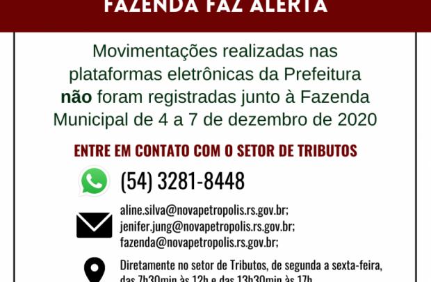 Foto de capa da notícia: Prefeitura de Nova Petrópolis faz alerta aos contribuintes