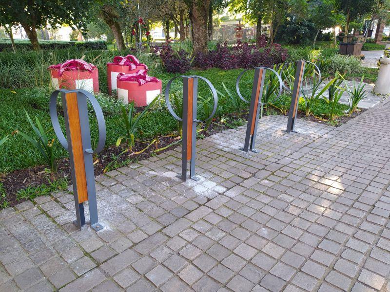 Foto de capa da notícia: Prefeitura de Nova Petrópolis inicia a instalação de bicicletários
