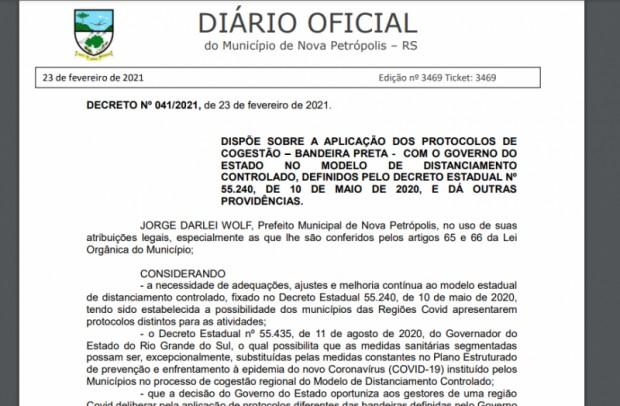 Foto de capa da notícia: Decreto Municipal confirma protocolos de Cogestão em Bandeira Preta