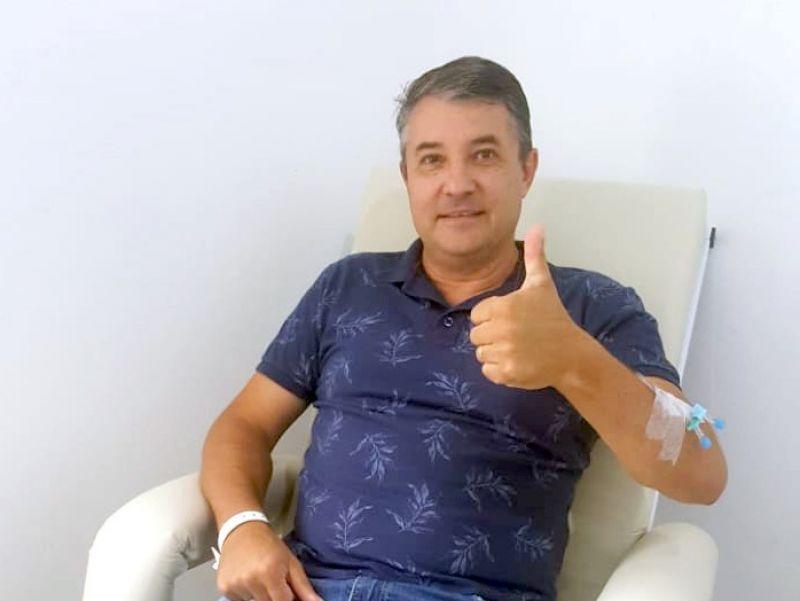 Foto de capa da notícia: Prefeito Jorge Darlei Wolf recebe alta hospitalar