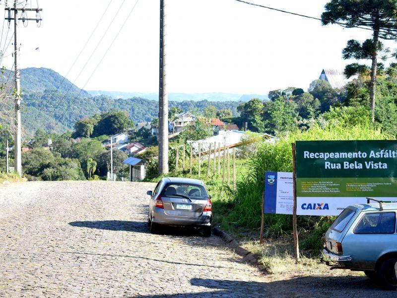 Foto de capa da notícia: Recapeamento asfáltico da Rua Bela Vista inicia nesta sexta-feira, dia 16