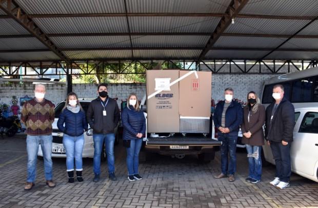 Foto de capa da notícia: Nova Petrópolis recebe três câmaras refrigeradas para vacinas