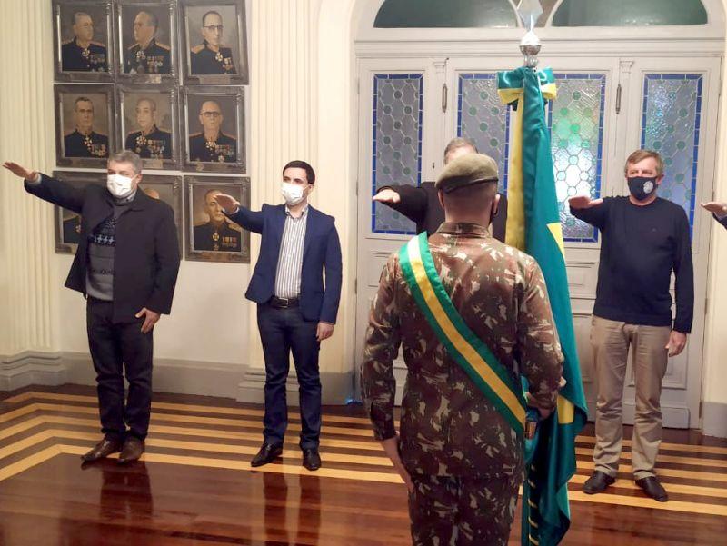 Foto de capa da notícia: Prefeito Jorge Darlei Wolf toma posse como presidente da Junta de Serviço Militar