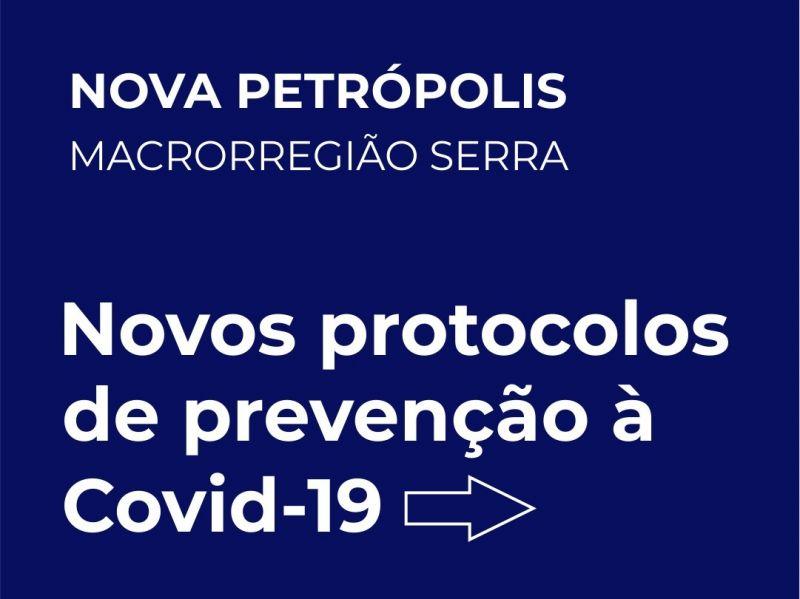 Foto de capa da notícia: Nova Petrópolis adota novos protocolos de prevenção à Covid-19